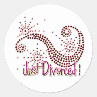 Apenas divorciado pegatina redonda
