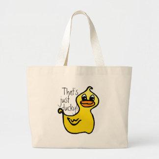 ¡Apenas ducky! Bolso Bolsa Tela Grande