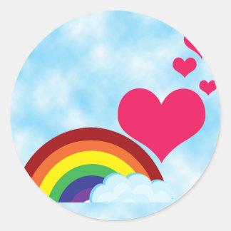 Apenas el arco iris etiquetas redondas