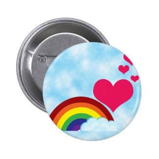 Apenas el arco iris pin