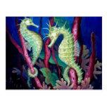 Apenas el dos de nosotros - arte del Seahorse Postales