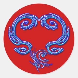 Apenas el pegatina del corazón (rojo)