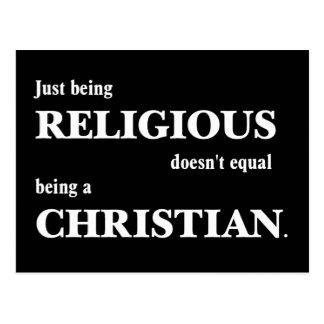 Apenas el ser religioso no iguala ser cristiano postal