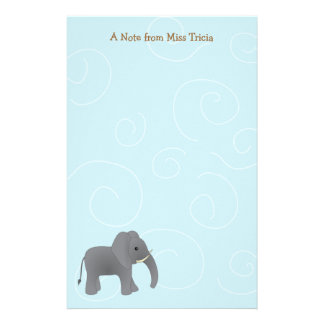 Apenas elefante papelería personalizada