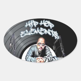 Apenas elementos de Hip Hop de los golpes TODA LA Pegatina Ovalada