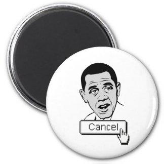 """Apenas empuje el botón de la """"cancelación"""" iman para frigorífico"""