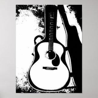 Apenas en poster de la guitarra acústica del caso