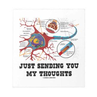 Apenas enviándole mi sinapsis de la neurona de los blocs de notas
