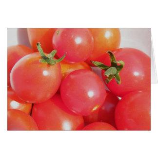 Apenas enviándole una sonrisa - tomates de la uva tarjeta pequeña