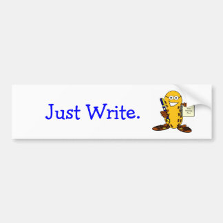 , Apenas escriba a la pegatina para el parachoques Pegatina Para Auto