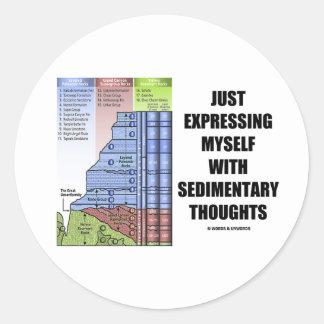 Apenas expresión con pensamientos sedimentarios etiquetas