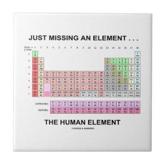 Apenas faltando un elemento… el elemento humano tejas  ceramicas