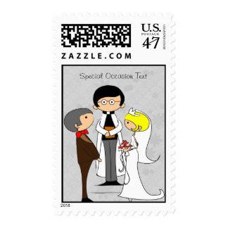 Apenas franqueo casado Stam de la ocasión del boda Sellos Postales