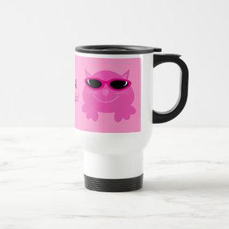 Apenas gatos rosados de Chillin con las gafas de s Taza De Café