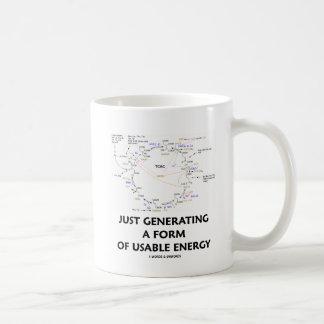 Apenas generando una forma de energía usable taza de café