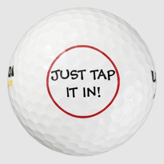 Apenas golpecito divertido él en pelotas de golf pack de pelotas de golf