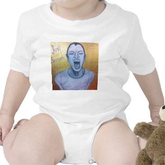 Apenas grito por inconsciente en lona trajes de bebé