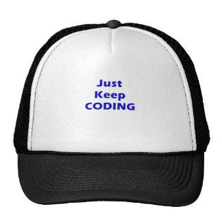 Apenas guarde el cifrar gorras