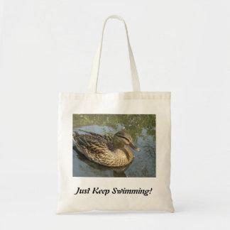 ¡Apenas guarde el nadar! Bolsa Tela Barata