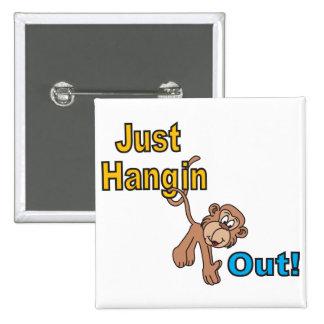 Apenas Hangin hacia fuera Monkey Pin