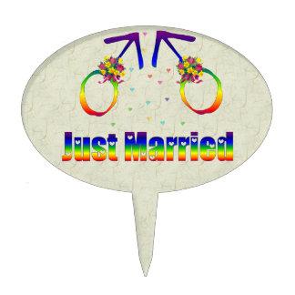 Apenas hombres gay casados figuras de tarta