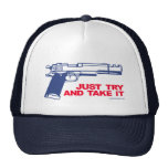 Apenas intente y tómele el gorra