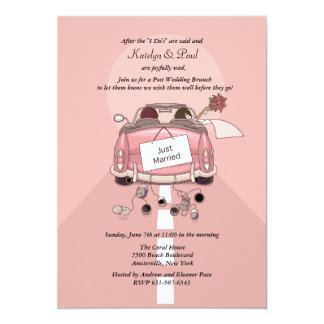 Apenas invitación casada del brunch del boda de 2 invitación 12,7 x 17,8 cm