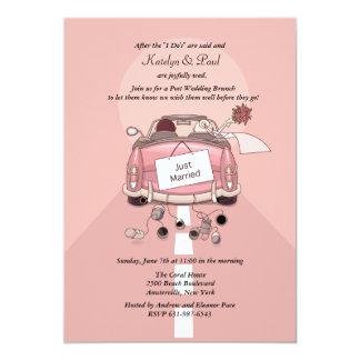 Apenas invitación casada del brunch del boda del