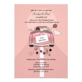 Apenas invitación casada del brunch del boda del p