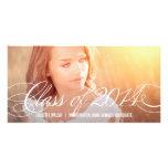 Apenas invitación hermosa de la graduación tarjetas con fotos personalizadas