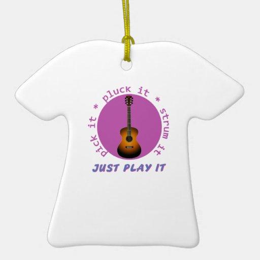 Apenas juegúelo gráfico de la guitarra adornos de navidad