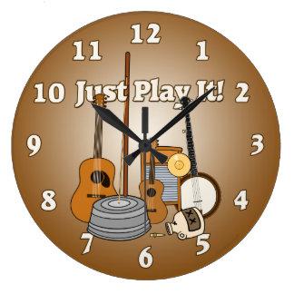 ¡Apenas juegúelo! Reloj Redondo Grande