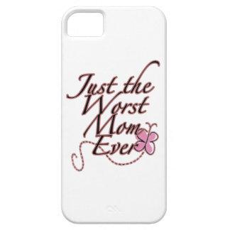Apenas la mamá peor nunca iPhone 5 funda