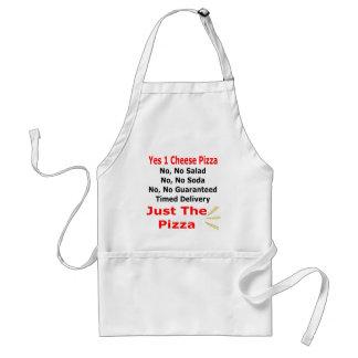 Apenas la pizza delantal