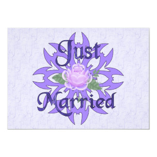 Apenas lavanda casada subió invitación 12,7 x 17,8 cm