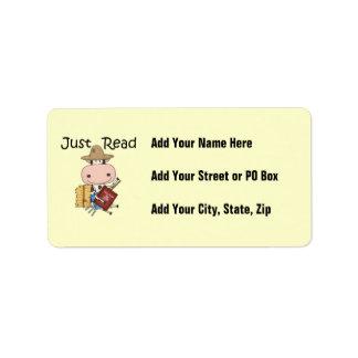Apenas leído etiquetas de dirección