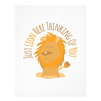 Apenas león aquí que piensa en usted membretes personalizados