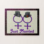 Apenas lesbiana formal casada puzzle