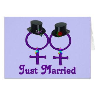 Apenas lesbiana formal casada felicitación