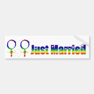Apenas lesbianas casadas etiqueta de parachoque