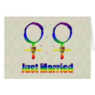 Apenas lesbianas casadas tarjeta de felicitación