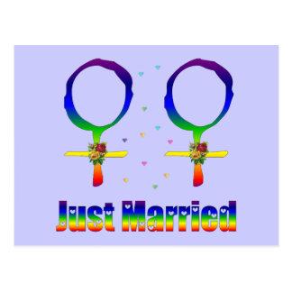 Apenas lesbianas casadas postal