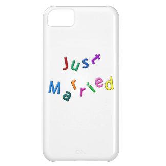 Apenas letras embarulladas casadas funda para iPhone 5C