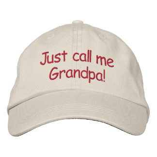 ¡Apenas llámeme abuelo! Gorra De Beisbol Bordada