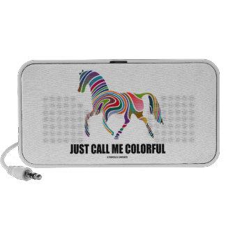Apenas llámeme colorido (el caballo del remolino d mini altavoz