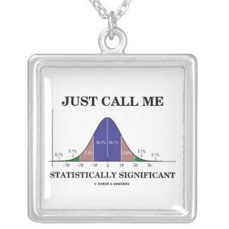 Apenas llámeme estadístico curva significativa de  colgante cuadrado