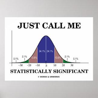 Apenas llámeme estadístico curva significativa de  poster