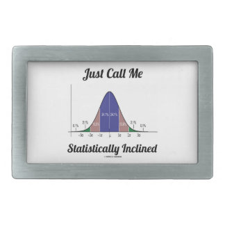Apenas llámeme inclinado estadístico (la curva de  hebillas cinturon rectangulares