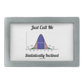 Apenas llámeme inclinado estadístico (la curva de hebilla de cinturón rectangular