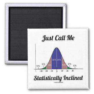 Apenas llámeme inclinado estadístico (la curva de imán cuadrado